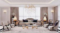 Điểm nổi bật của phong cách cổ điển là những hoạ tiết trang trí cầu kì trong thiết kế nội thất.