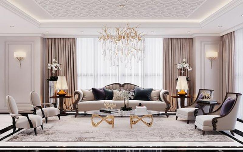 thiết kế penthouse cổ điển