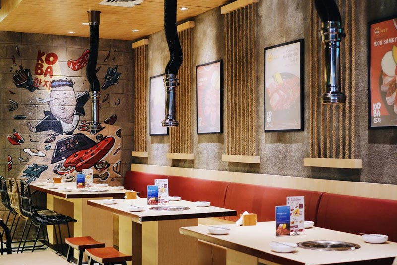 thiết kế quán ăn Hàn Quốc
