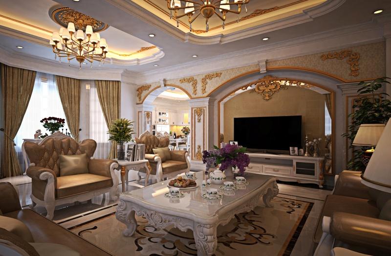 Thiết kế nội thất cho không gian biệt thự đẹp và sang trọng