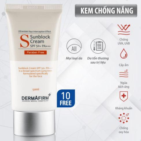 Kem chống nắng Dermafirm Sun Block Cream SPF 50+ PA+++